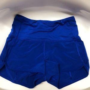 lululemon high waisted speed up shorts